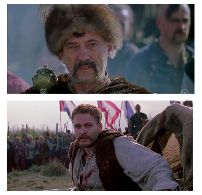 Кадры из кинофильма «Огнем и мечом».