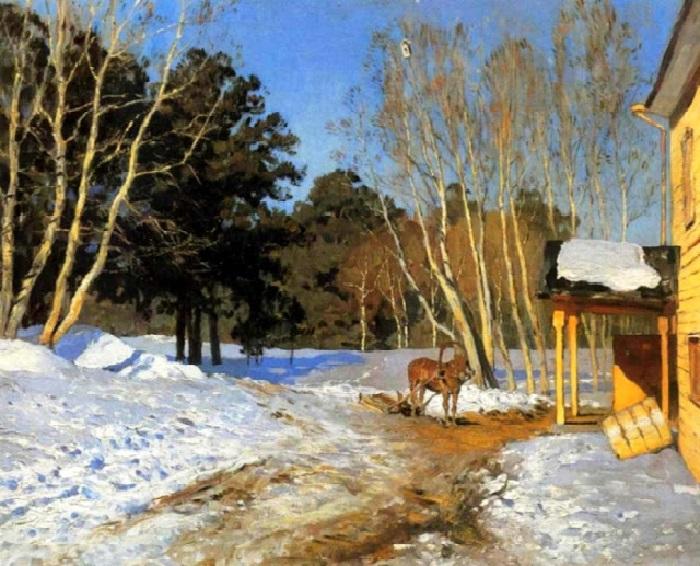 Левитан И.И. Март. 1895. Государственная Третьяковская галерея, Москва.