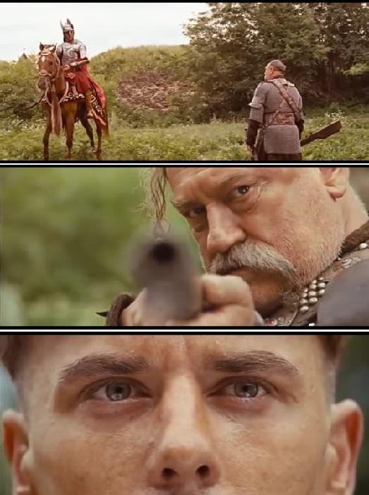 Кадр из к/ф «Тарас Бульба». -Я тебя породил, я тебя и убью!