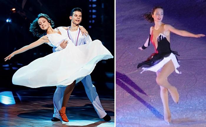 """Участие в популярном телешоу """"Танцы со звездами"""". / Катя Старшова на льду."""