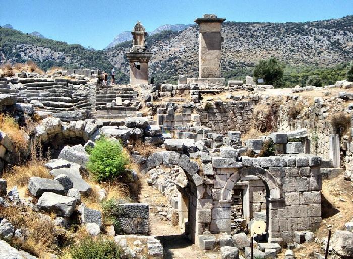 Развалины древней Трои.
