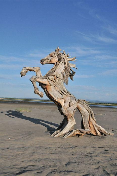 Скульптуры из коряг от Джеффро Уитто.