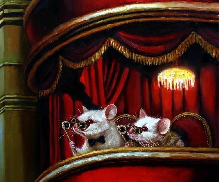 Театральные поклонники. Автор: Lucia Heffernan.