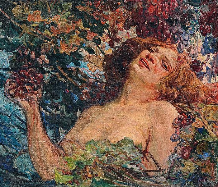 Портрет девушки. Автор: Иван Мясоедов.