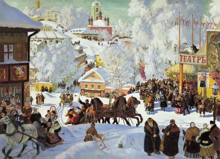 Масленица. (1919 год). Автор: Борис Кустодиев.