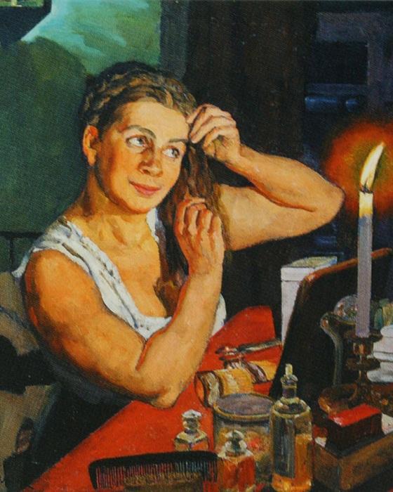Портрет жены Ñудожника.  Автор: Константин Юон.