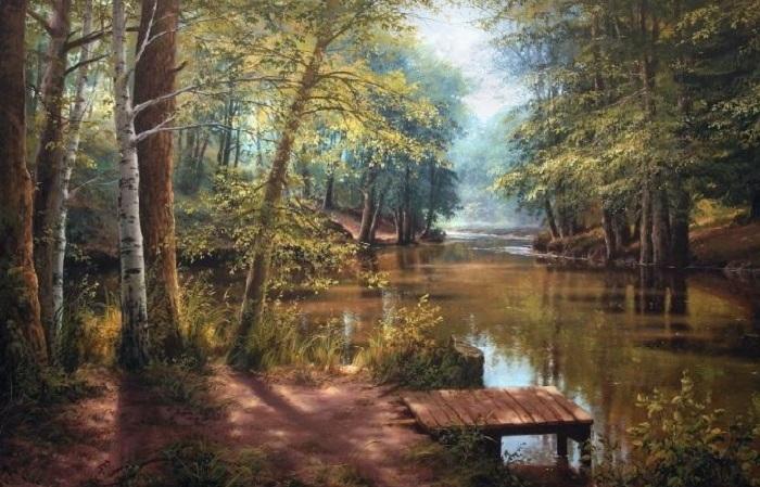 Пейзажи белорусского художника Виктора Юшкевича.
