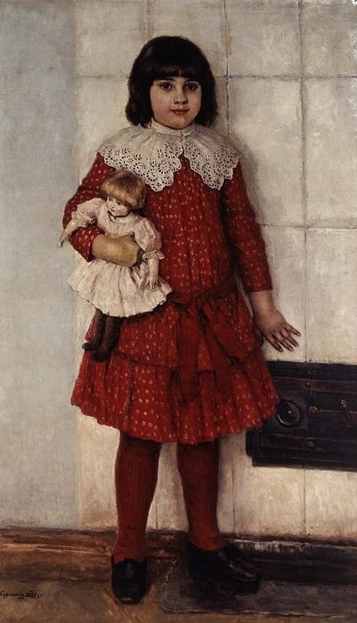 «Портрет Ольги Васильевны Суриковой», 1888 год. Автор: Василий Суриков.