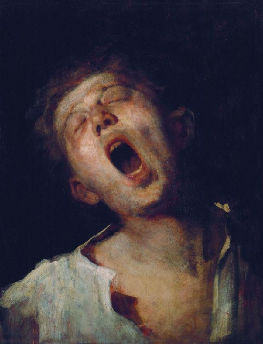 «Зевающий ученик» Этюд. Автор: Михай Мункачи.