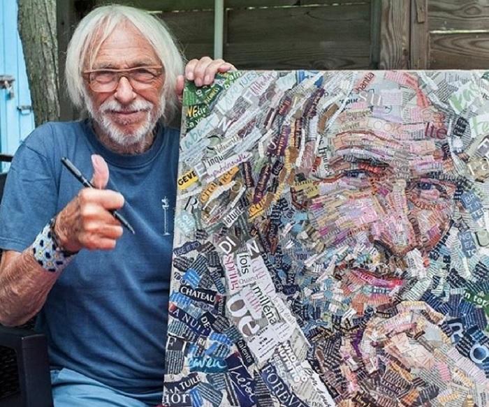 Пьер Ришар и его портрет в стиле APP.ART от Андрея Шатилова.