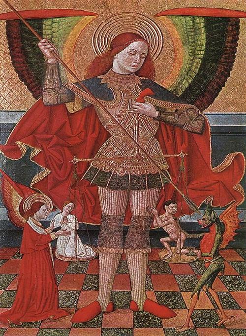 Взвешивание душ архангелом Михаилом. (1490). Национальный музей искусства Каталонии. | Фото: artchive.ru.