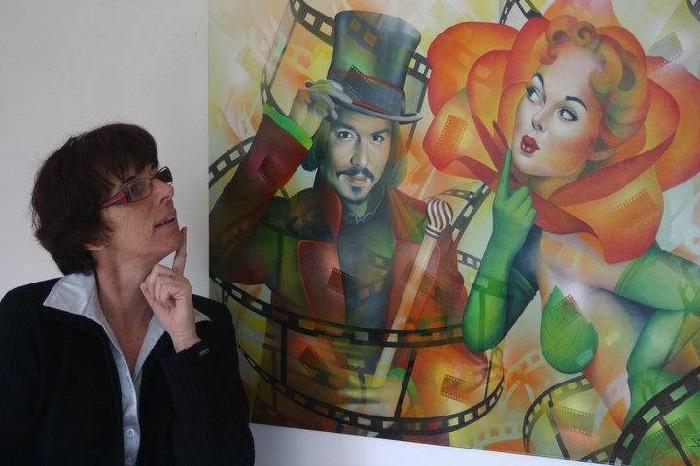 Жаннет Гишар-Бюнэль - современная французская художница.   Фото: art-veranda.ru.