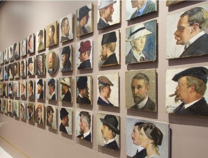 Коллекция портретов скагенских художников. Автор: Педер Северин Крёйер.
