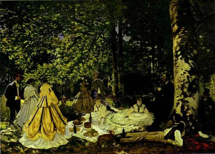 «Завтрак на траве». (1865—1866 гг.) Пушкинский музей, Москва. Автор: Клод Моне.