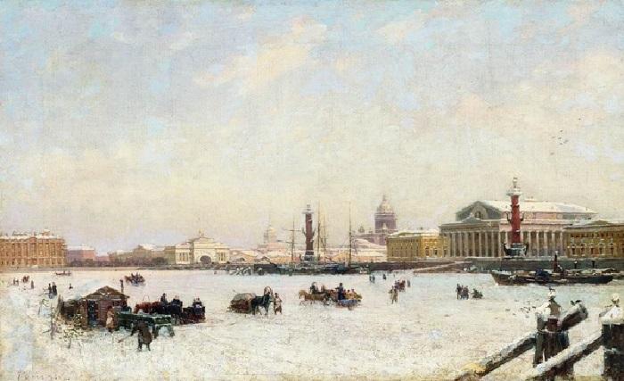 «Петербург зимой», 1898 Челябинская областная картинная галерея. Автор: Александр Беггров.