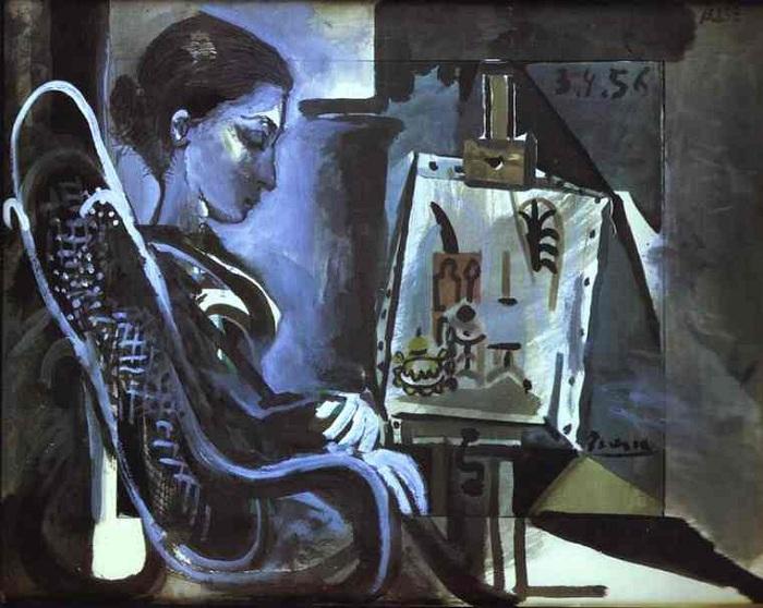 Жаклин в студии. (1956г.).