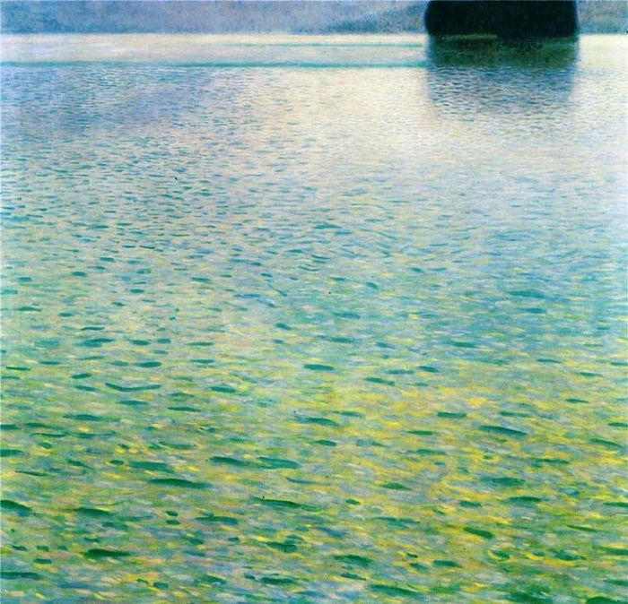 Остров на озере Аттерзе. Автор: Gustav Klimt.