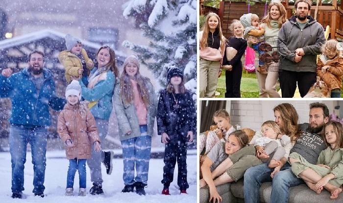 Большая семья Елены Карнеевой. | Фото: instagram.com.