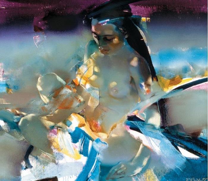 Нагая восточная женщина. Из цикла «Шелковый путь». Автор: Валерий Блохин.