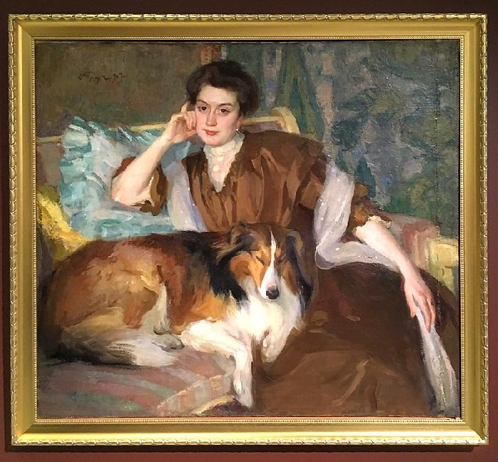 Портрет жены, 1907 год. Музей изобразительных искусств Республики Карелии, Петрозаводск. Автор:<br>Иосиф Браз.