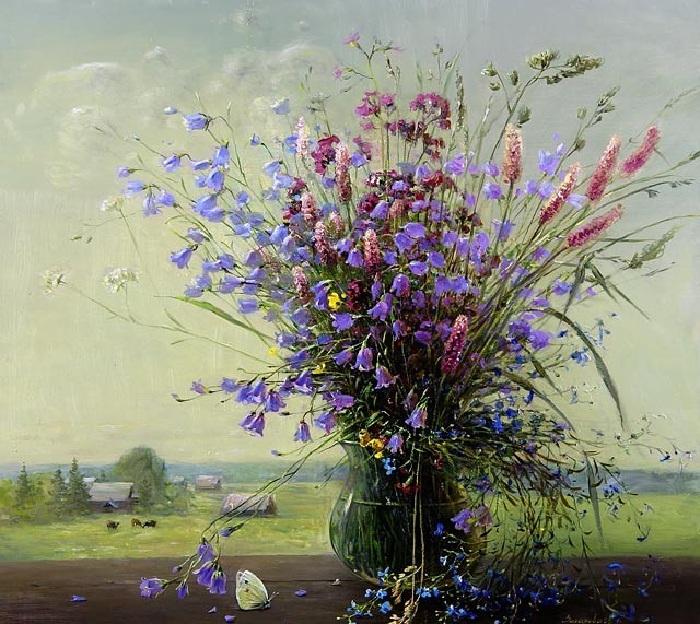 Весенний букет. Автор:  Марина Захарова.