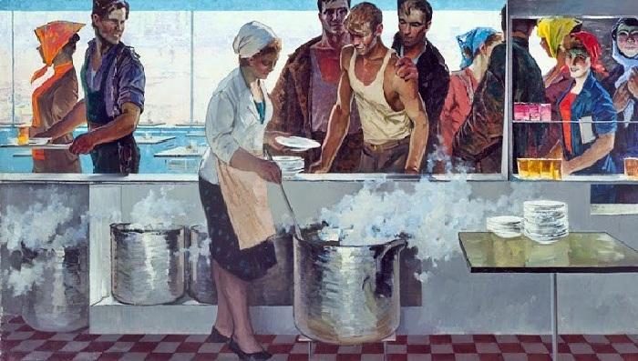 В рабочей столовой. (1963 год). Автор: Май Данцинг.