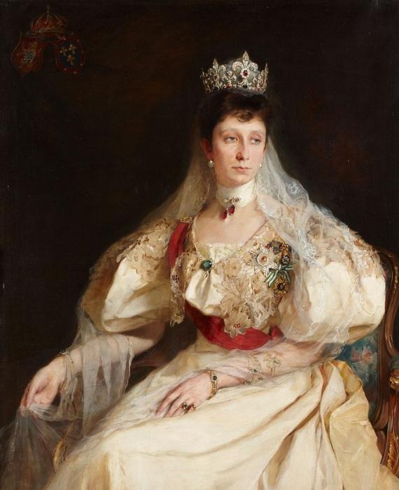 Мария Луиза Бурбон-Пармская, княгиня Болгарии, до 1899 год. Автор: Филипп Алексис де Ласло.