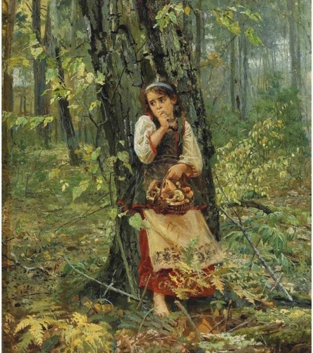 В лесной чаще. Автор: Николай Бодаревский.