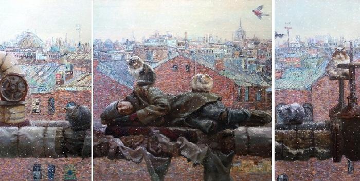 Триптих «Жизнь на улице». Реалистический сюрсимволизм от Андрея Шатилова.