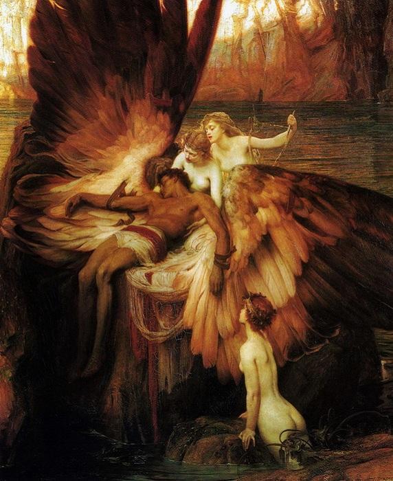 «Оплакивание Икара» (1898). Автор: Герберт Джеймс Дрейпер.
