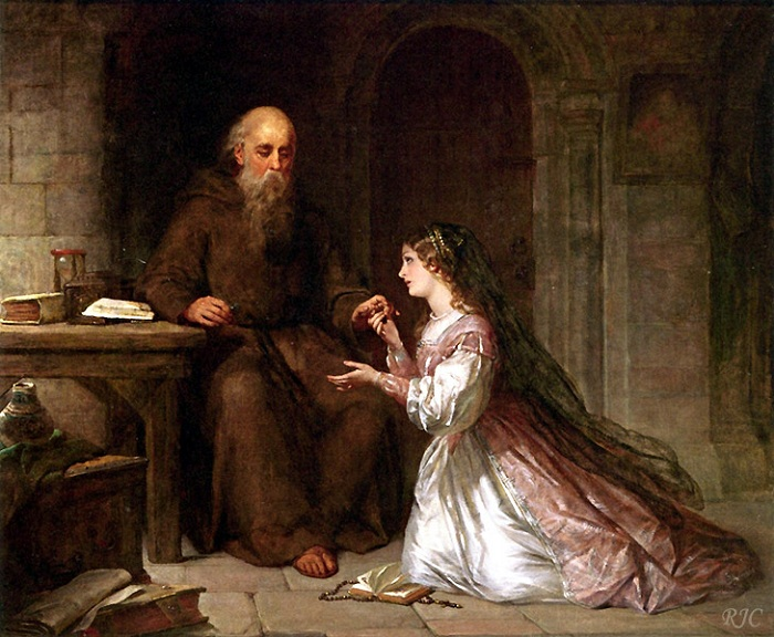 «Джульетта и брат Томас». (1851 год). Автор: Фрэнсис Дикзи,