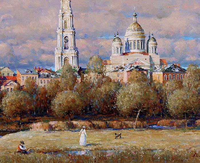 На окраине Рыбинска. Автор: Александр Шевелев.