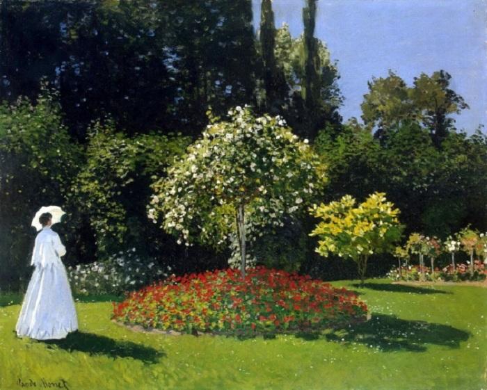 Дама в саду Сент-Адресс. (1867 год). Автор: К.Моне.