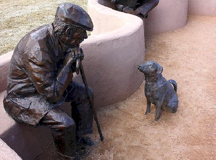 Скульптурные композиции паркового ансамбля Гленны Гудакр.
