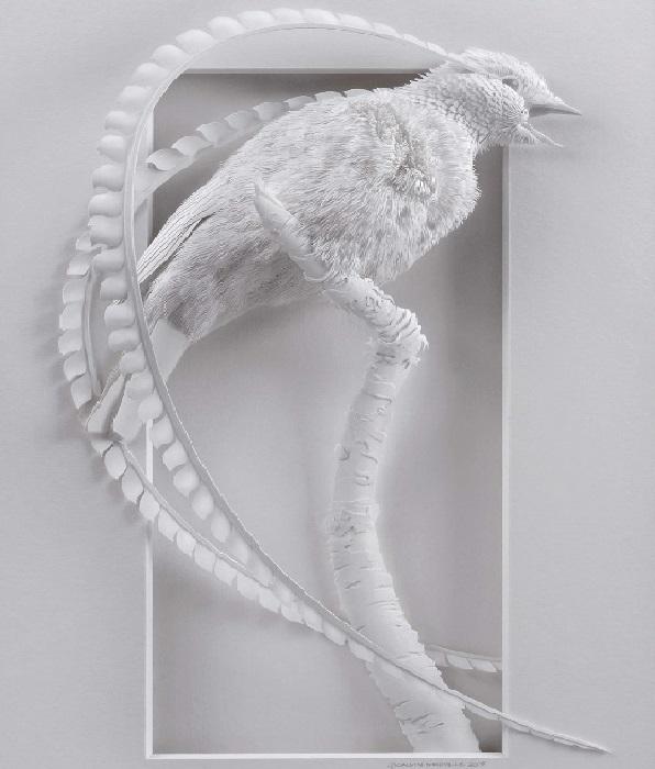 3D скульптуры из бумаги от канадского скульптора Келвина Николлса.