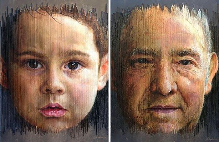 Детство и Старость.Трехмерные портреты художника Серджи Каденаса. ¦ Фото: gooodnews.ru.