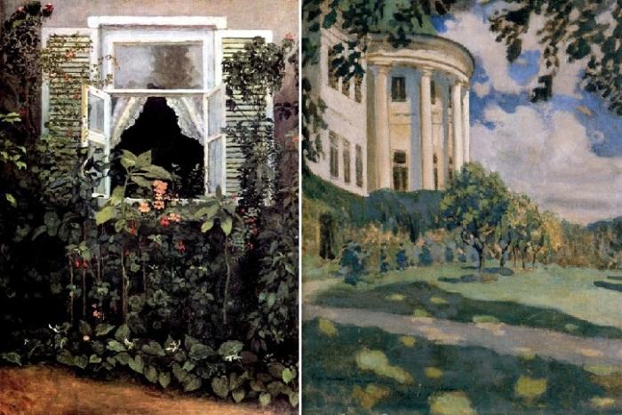 Окно. (1886 год). Третьяковская галерея. / Усадьба. (1891 год).