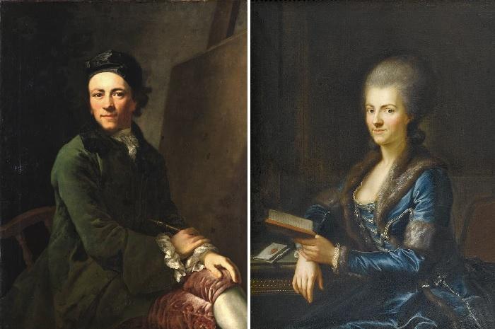 Автопортрет. (1765 год.) / Элизабет Зульцер, жена художника. (1765-66 г.г.) Автор: Anton Graff.