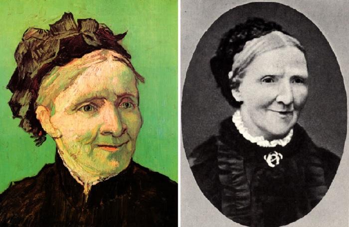 Портрет матери. Автор: Винсент Ван Гог. / Фотография Анны Корнелии Карбентус, матери художника.