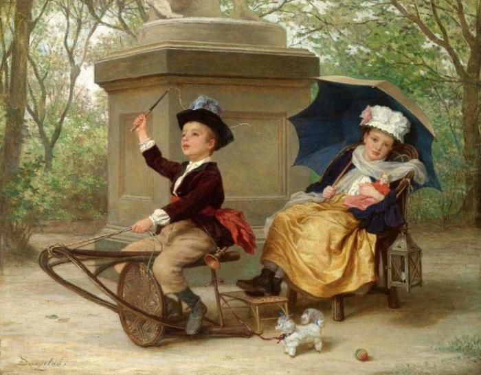 Андре Анри Даргелас (1828-1906). Франция. Вечеринка для великих приключений.