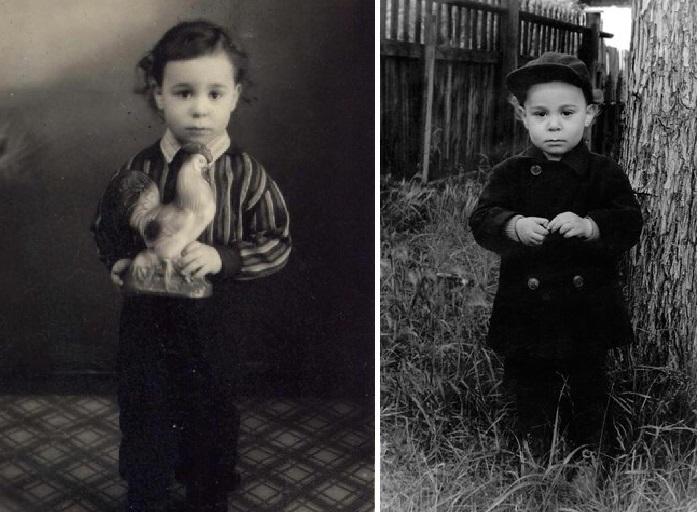 Ефим Шифрин в детстве.