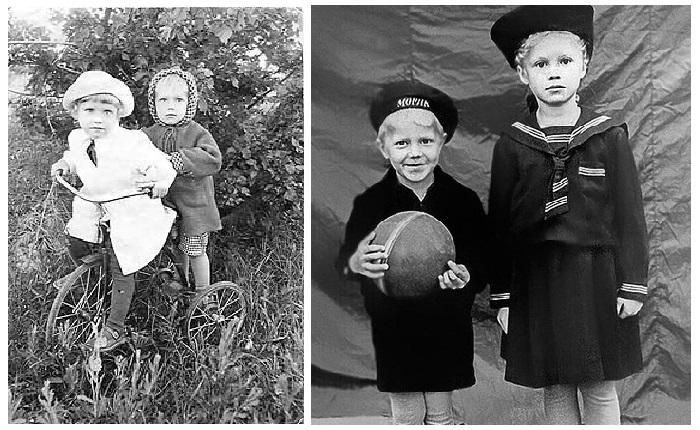 Надежда Бабкина с младшим братом Валерием.