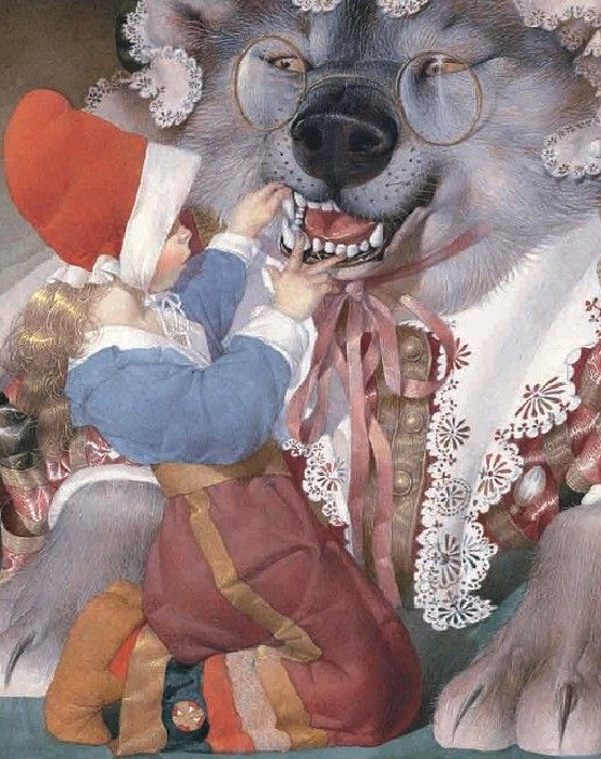 «Красная шапочка». Иллюстрации от Геннадия Спирина.