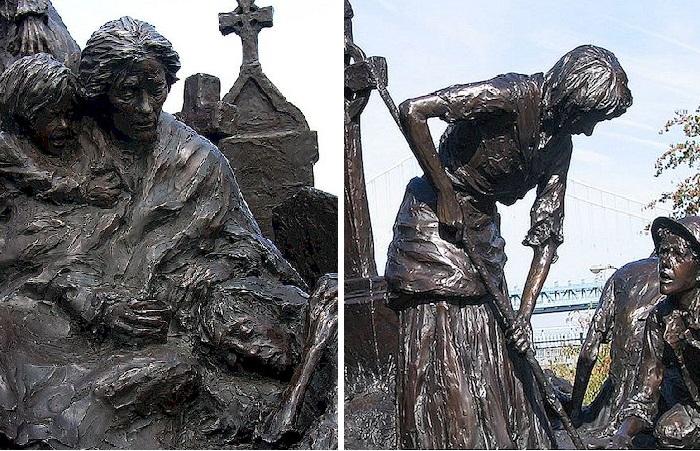Ирландский Мемориал в Филадельфии. Фрагменты. Автор: Гленна Гудакр.