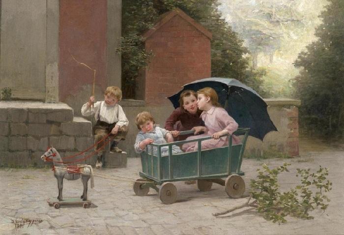 Шарль Бертран д'Энтраг (1850-1929). Франция.
