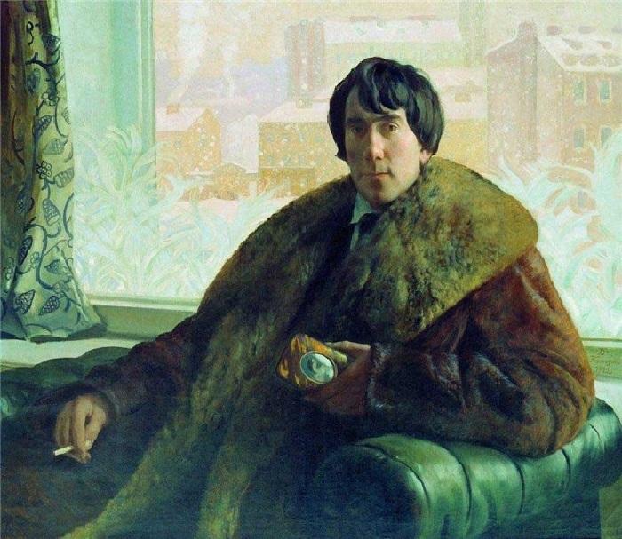 Портрет скульптора и архитектора И.С.Золотаревского. (1922 год). Художник Борис Кустодиев.