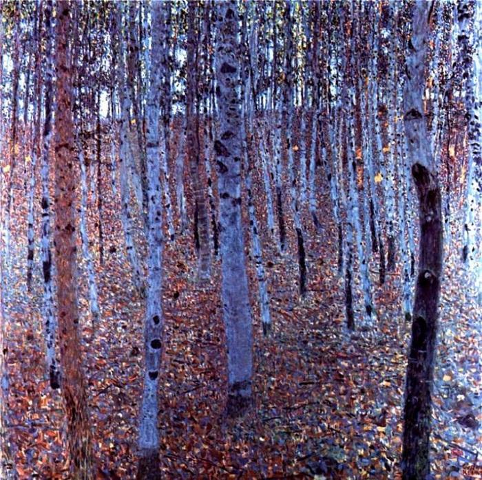 Берёзовая роща. (1903год).  Автор: Gustav Klimt.