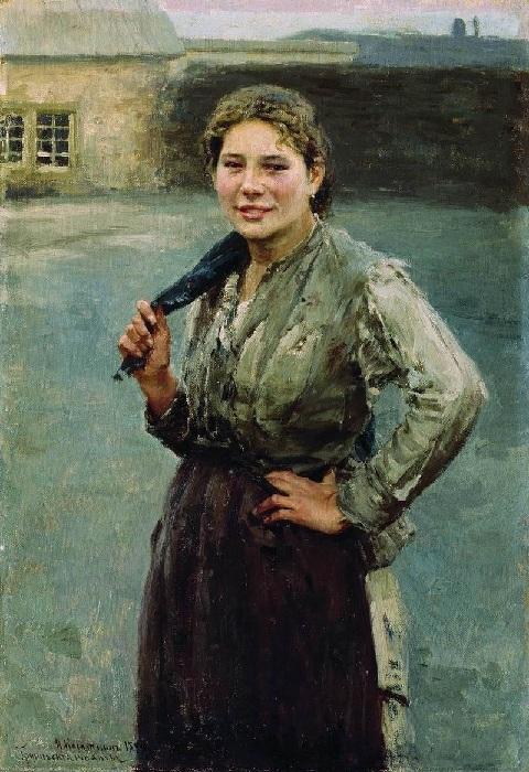 «Шахтерка». (1894 год). Автор: Николай Касаткин.