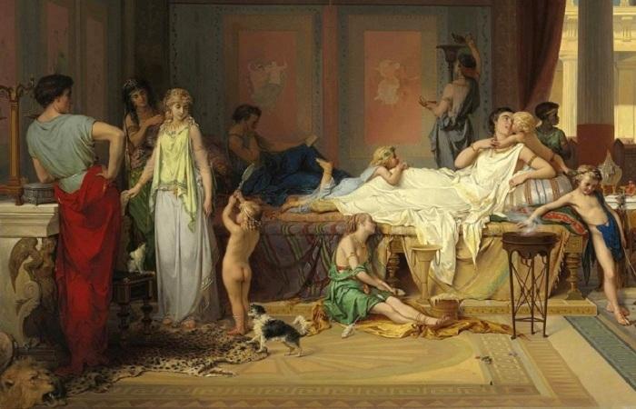 Какой представлял себе жизнь жителей Помпеи до трагических событий живописец Жозеф Команс.