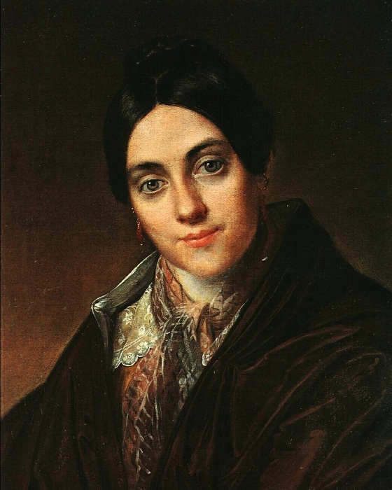 Мать художников Маковских - Любовь Корниловна Молленгауэр. Автор: К.Е. Маковский.